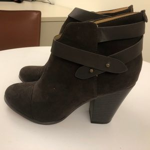 Chocolate Suede Booties 8